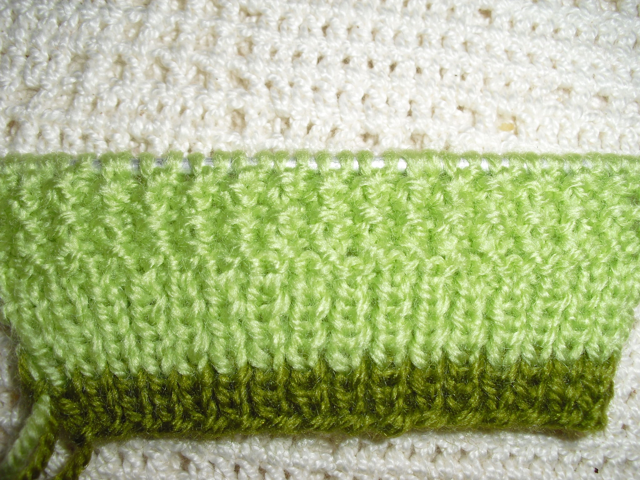 maille lisiere tricot