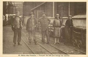 Charpentier, transport à la mine