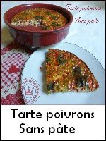 tarte poivrons sans pâte weight watchers