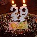 Mon gâteau d'anniversaire (29 ans déjà!)