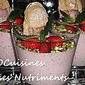 fraise menthe pistaches