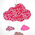 Mobile nuage rose