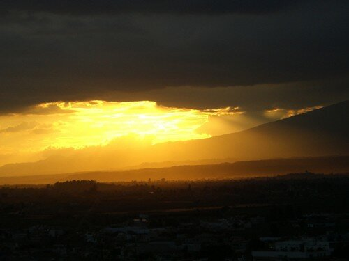 Cholula - Popocatepetl Sunset