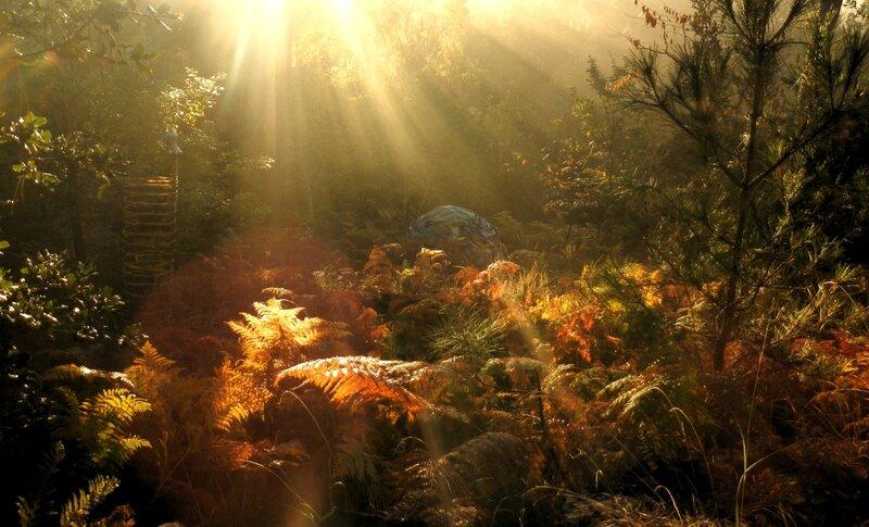 lever de soleil sur wigwam