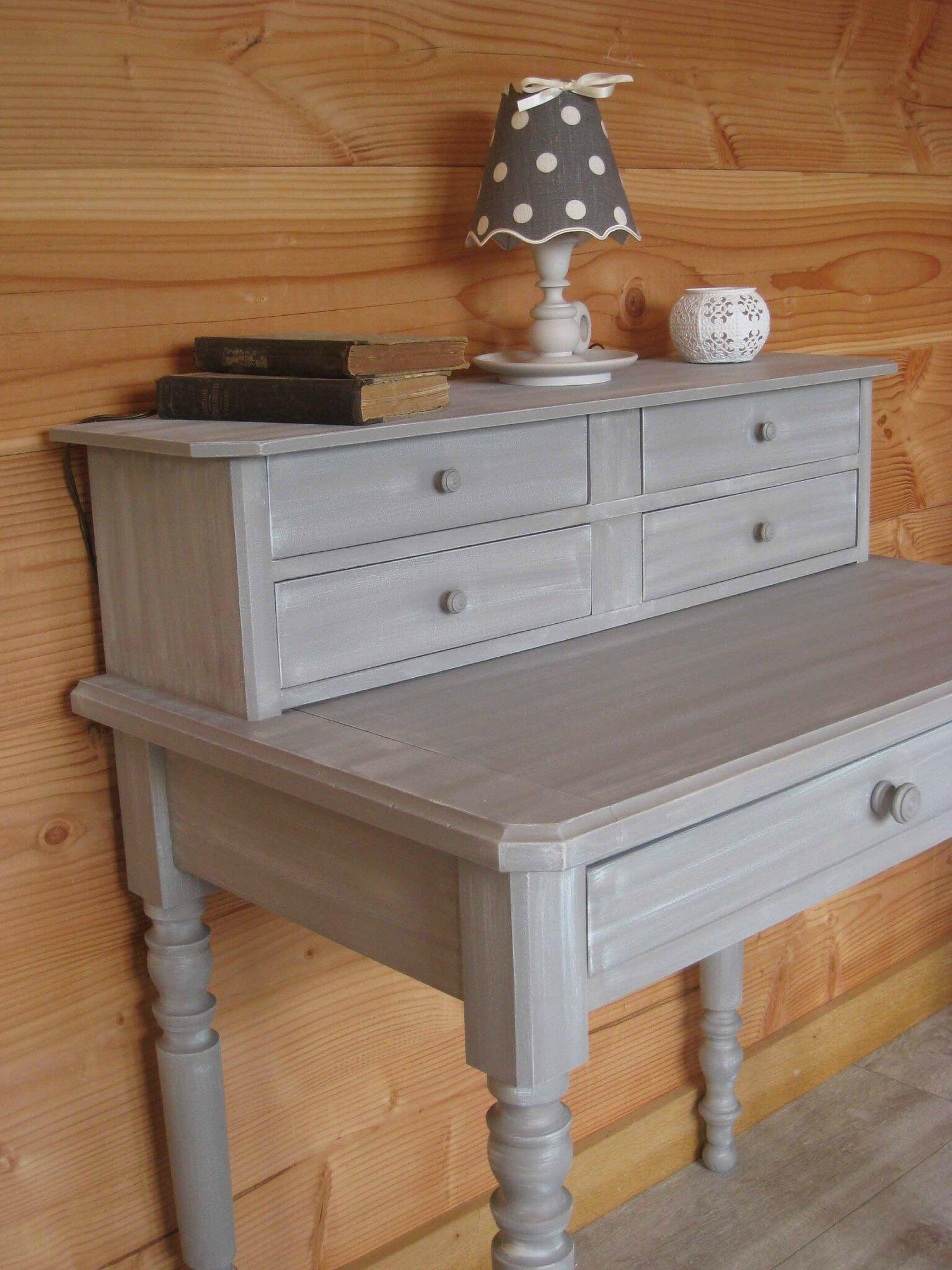 Un secr taire relook patines couleurs for Relooker un meuble bureau