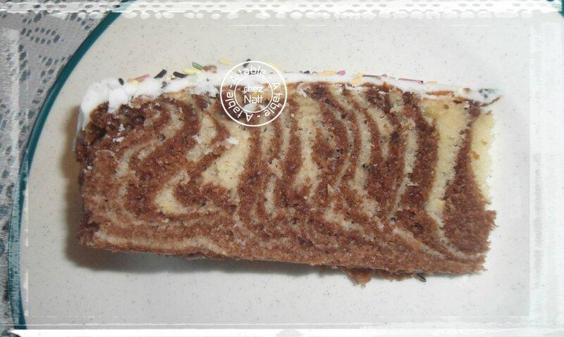 gâteau au yaourt zébré 2