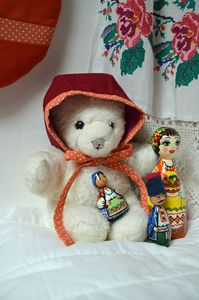 Béguin bébé fille 0-6 mois - Vue d'ambiance - Collection 'Si la Russie des Tsars m'était contée' - ShanouK