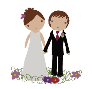 Mariage cake topper
