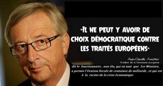 Nous exigeons la révocation de Jean-Claude Juncker, pour son passé sulfureux et son mépris affiché pour l'opinion des citoyens.