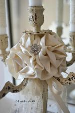 bougeoir 5 branches shabby chic b - 1