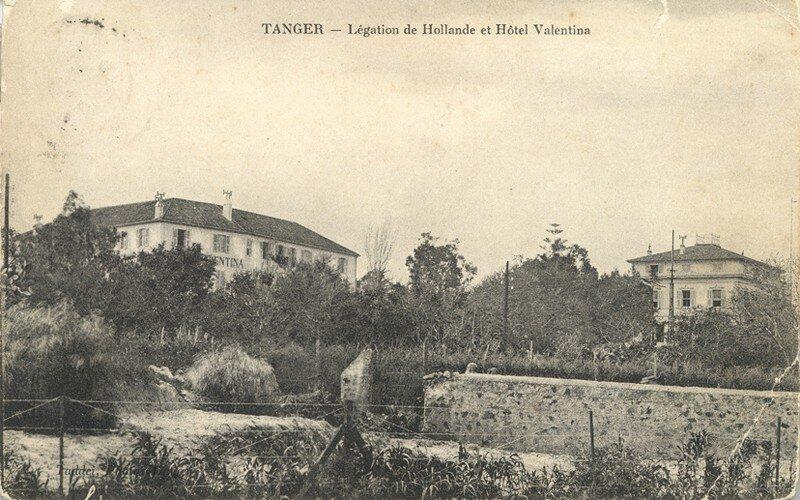 Hôtel Valentina et légation de Hollande vers 1890