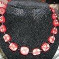 collier milfiori fimo rouge