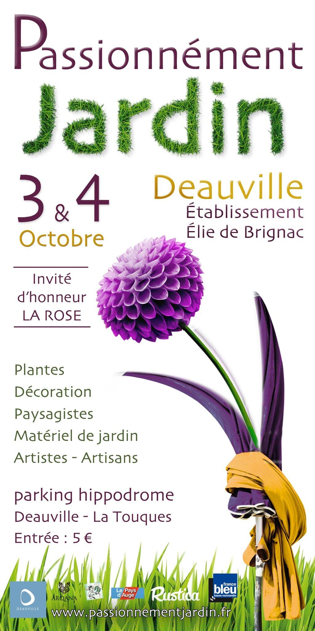Salon Passionnément Jardin de Deauville : 3 et 4 octobre 2015