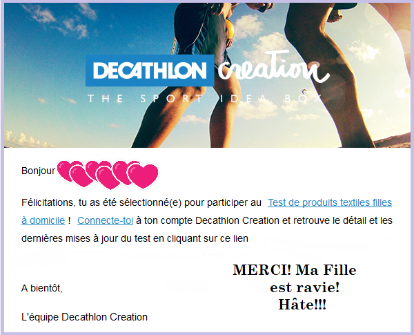 sélection decathlon
