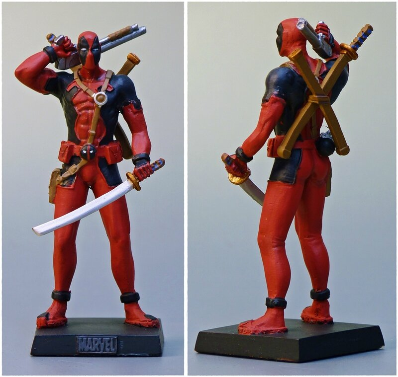 figurine deadpool plomb. Black Bedroom Furniture Sets. Home Design Ideas