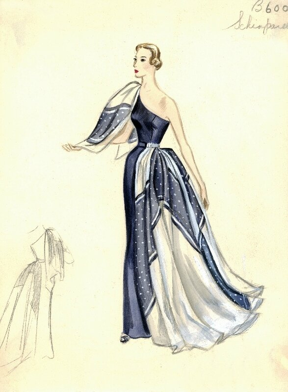 Bergdorf Goodman Archives. Coctail & Evening Dresses: Schiaparelli