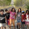 campamento escolar: las niñas de la SFamilia en Picarquín