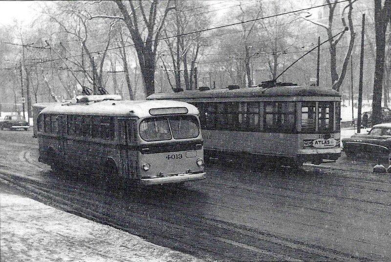 trolleybus Amherst années 1950