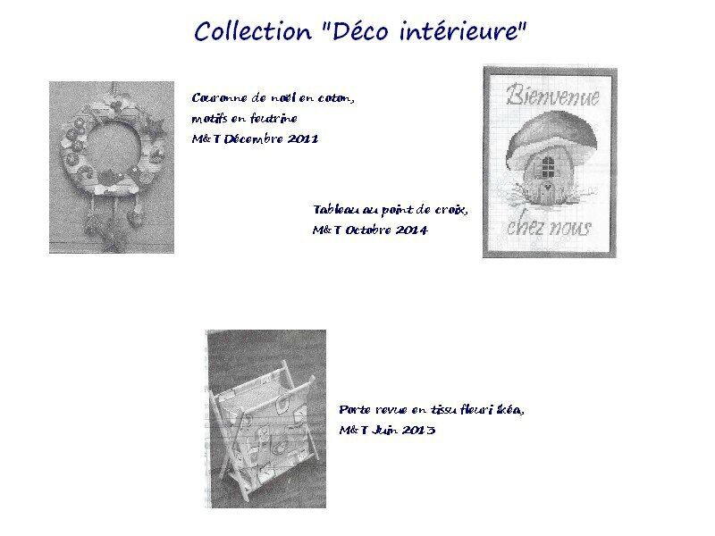 collection déco