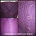 Veste en laine acrylique
