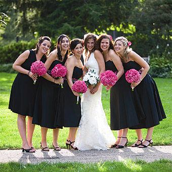 robe_mariage_fuchsia_noir