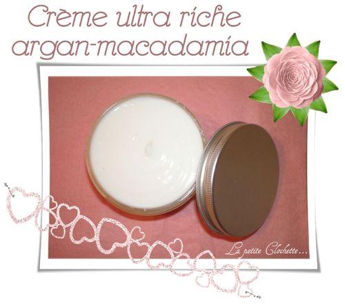Creme riche argan macadamia