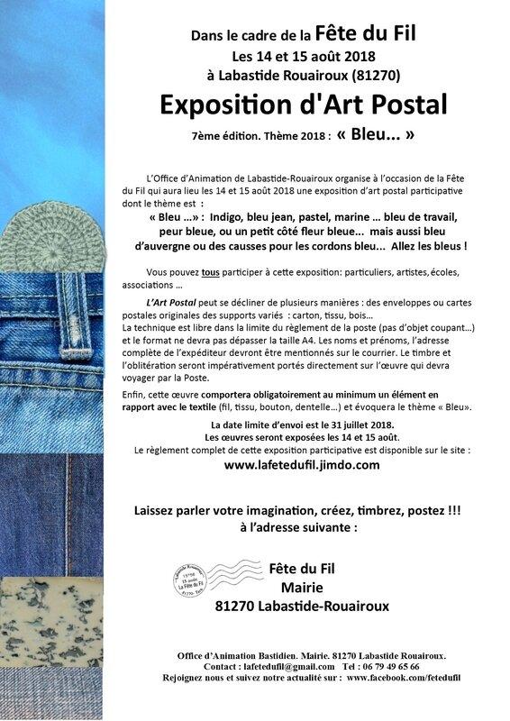 ART POSTAL 2018 affiche appel