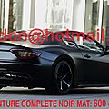 Maserati gransport, covering nancy, covering nancy vehicules total covering noir mat, peinture covering noir mat, covering jant