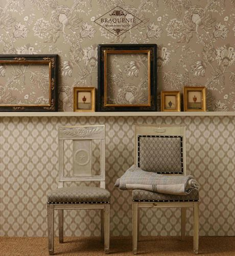 papier peint toile de jouy papier peint toile de jouy marianne coloris gris fd lutece toiles. Black Bedroom Furniture Sets. Home Design Ideas