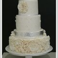 wedding cake blanc argent nimes Angelique 6;