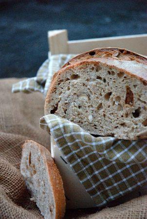 pain levain, noisettes et abricots secs
