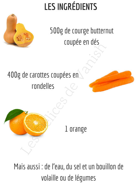 soupe d tox vitamin e butternut carotte orange les d lices de vanish. Black Bedroom Furniture Sets. Home Design Ideas