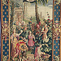 A french chinoiserie tapestry. beauvais, 1722-1724, by noël-antoine mérou, after a design by guy vernansal, jean-baptiste belin
