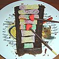 Un gâteau xylophone