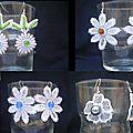4 paires de fleurs