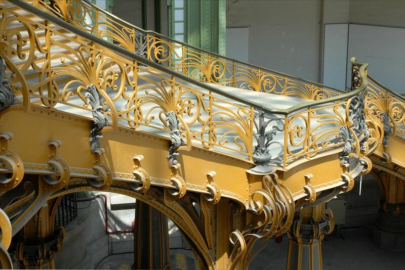 grand palais paris escalier honneur balcon photo dalbera
