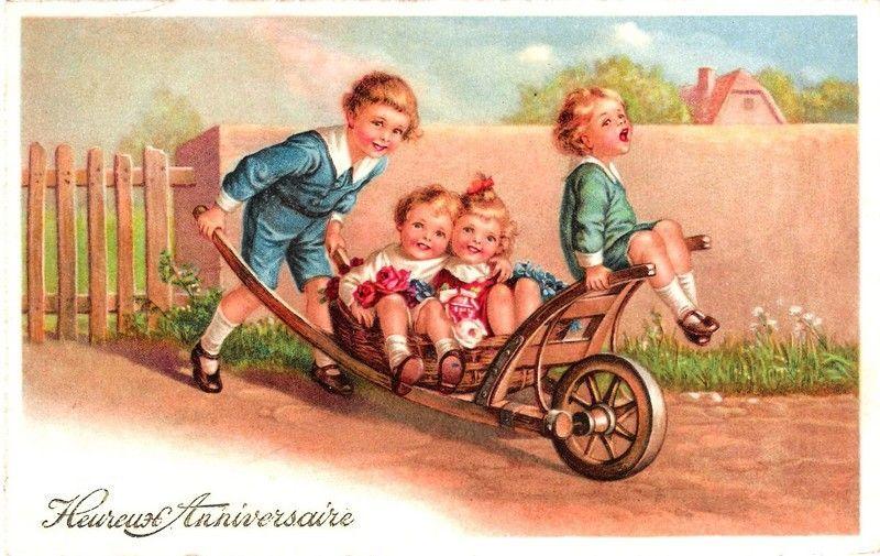 Carte heureux anniversaire enfants