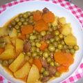 Petits pois/carotte en sauce