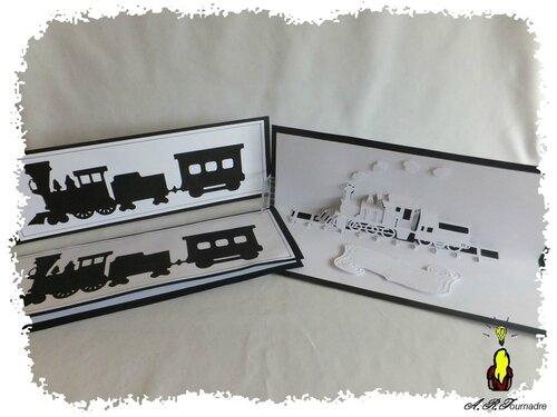 carte pop up le tour du monde en train kirigami pop up les passions d 39 art. Black Bedroom Furniture Sets. Home Design Ideas