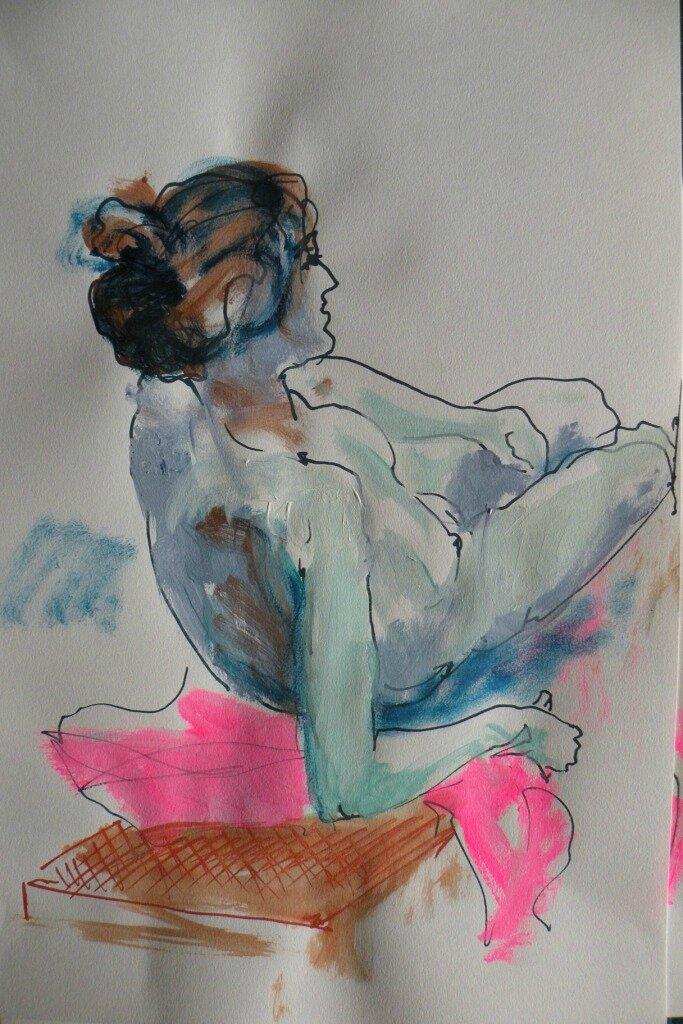 peintures et dessins de nus Alain Montoir