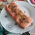 Terrine de saumon fumé et carrés frais