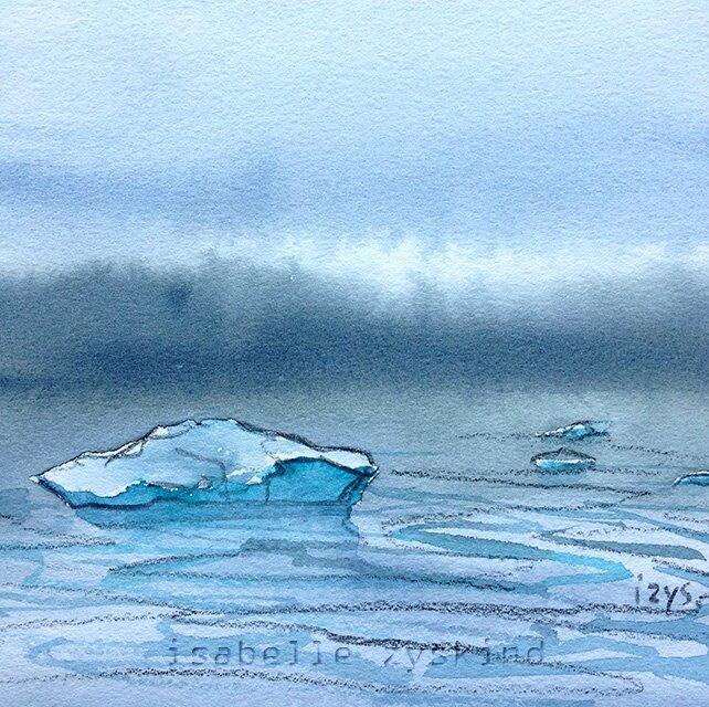 Petit iceberg bleu w15x15 0515