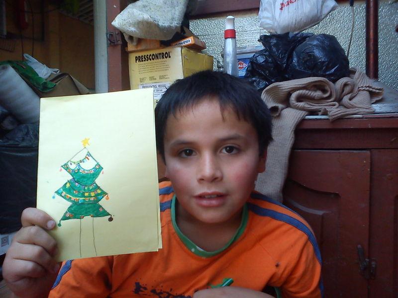 latarjeta de Navidad al Niño Jesús