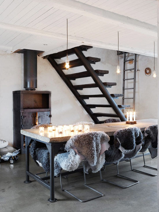 Une maison de campagne industrielle sonia saelens d co for Inspiration design d interieur