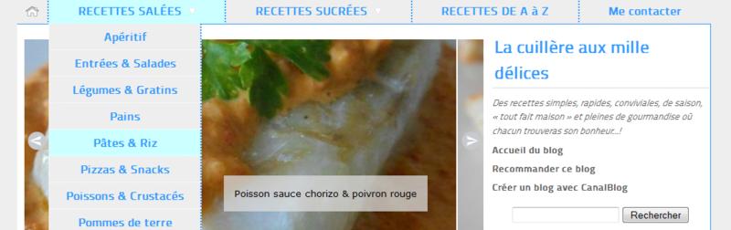 menu deroulant