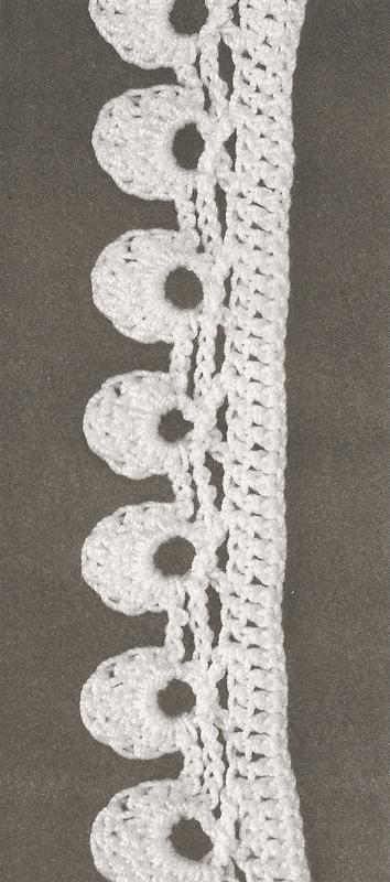 Les bordures au crochet 9 le monde de c l naa - Bordure de finition au crochet ...
