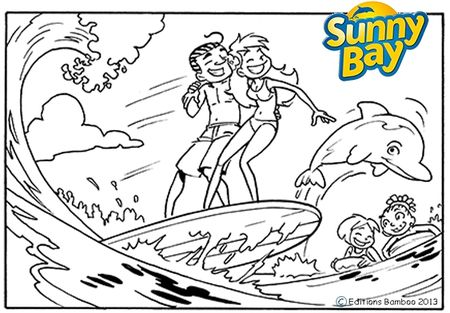 SunnyBay Coloriage dauphin8