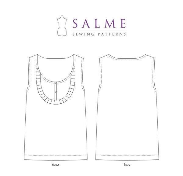 Salme Patterns - Bib Top