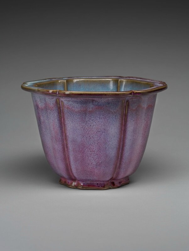 Lobed Flowerpot with Foliate Rim, Ming dynasty, 1368-1644, probably 15th century
