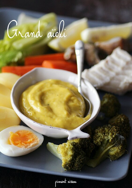 grand aïoli - great garlic mayonnaise